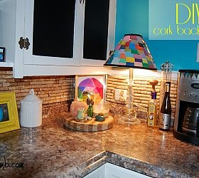 How to make a cork back splash for your kitchen