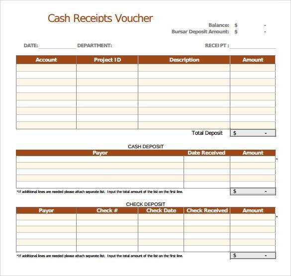 Cash Receipt Templates 21 Free Printable Xlsx And Docs Formats Receipt Template Receipt Voucher Sample