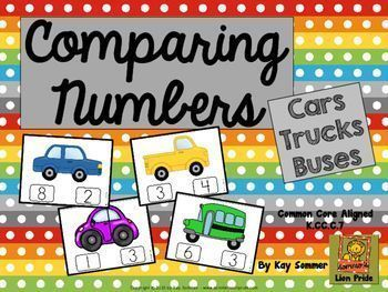 Comparing Numbers 1-10 {cars, trucks, buses} K.CC.C.7