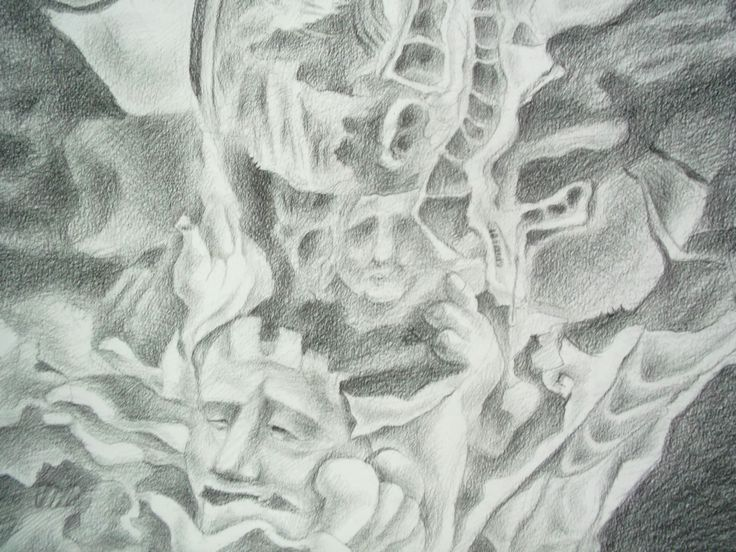 745/2 The Building of oppress Drawing pencil (detail)