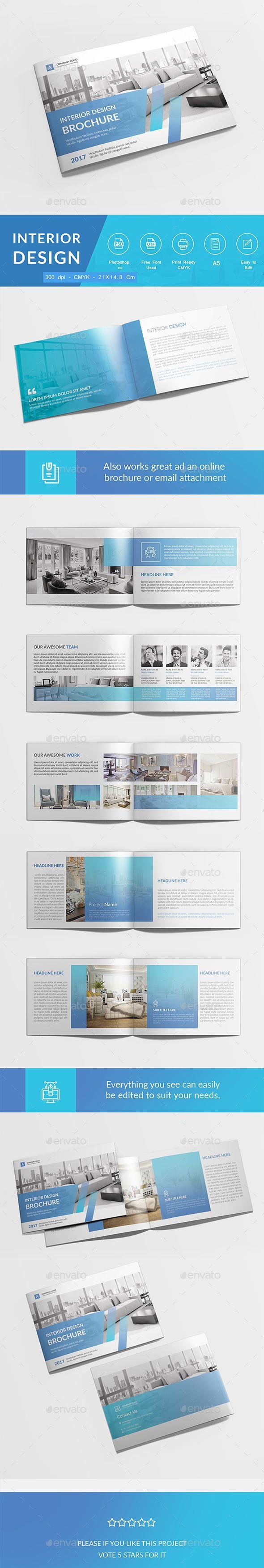 Interior Brochure Design Template PSD                                                                                                                                                                                 More