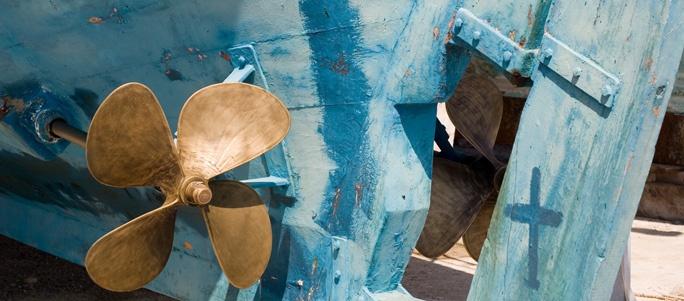 Boat Propeller Karlovassi Samos