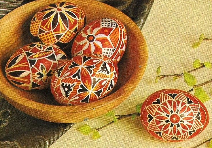 I like these kind of Easter eggs very much. The technique of making these decorated eggs are similar like Russian or Ukrainan easter eggs bu...