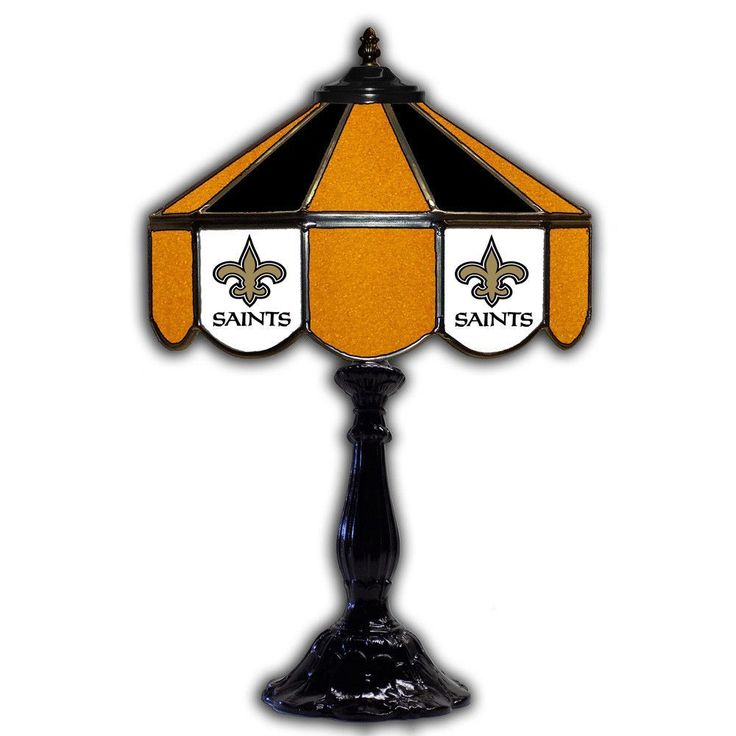 New Orleans Saints 21т Tiffany Style Table Lamp w/ Glass Base