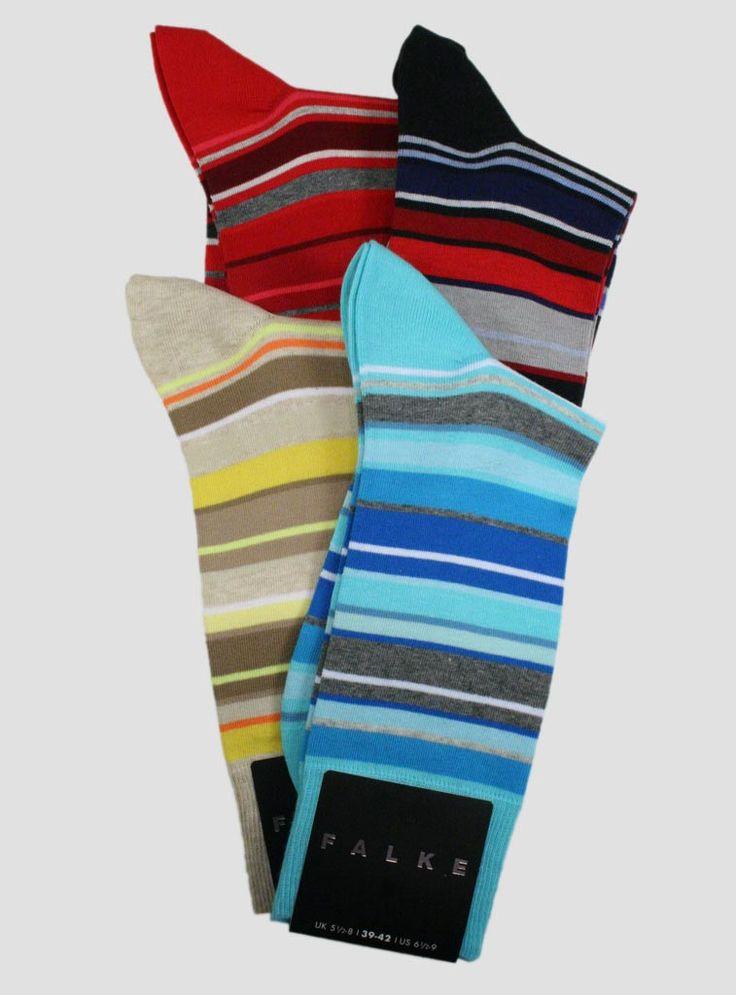 Falke Multi Stripe Crew - Men's | The Sock Hop #socks #thesockhop #sockhopny