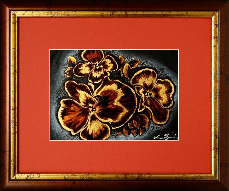 ARTFINDER: Gold pansies by Laura Soneriu - ...all for the soul