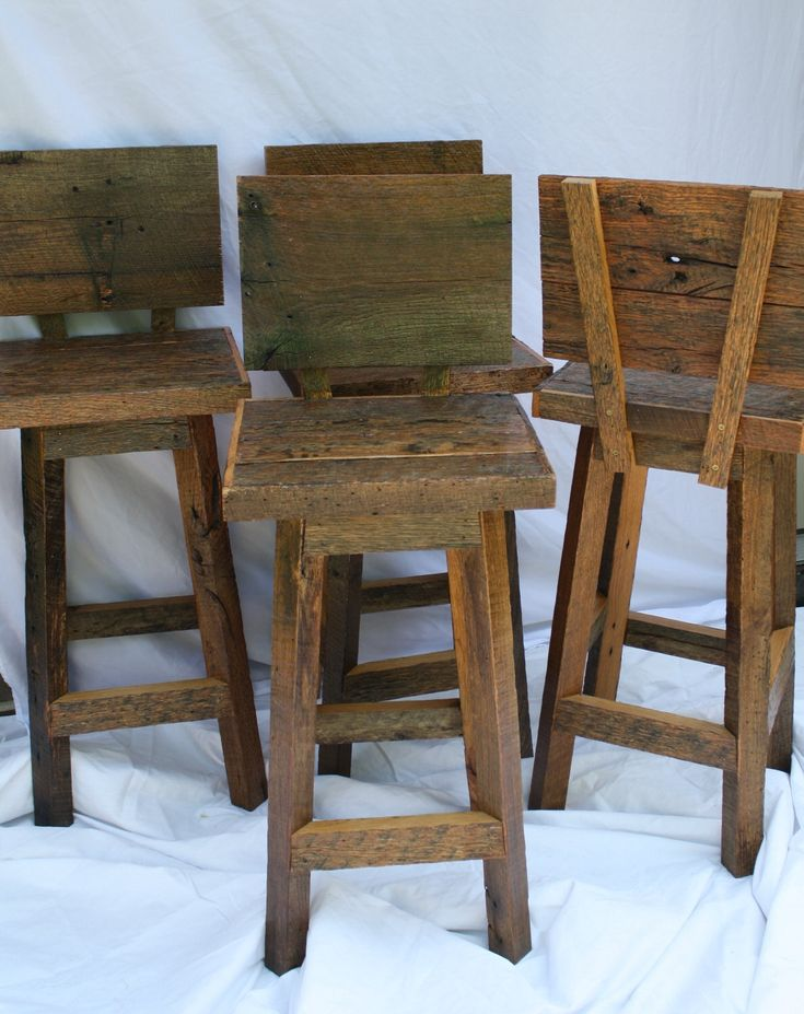 Handmade Bar Stools with Backs with Seats