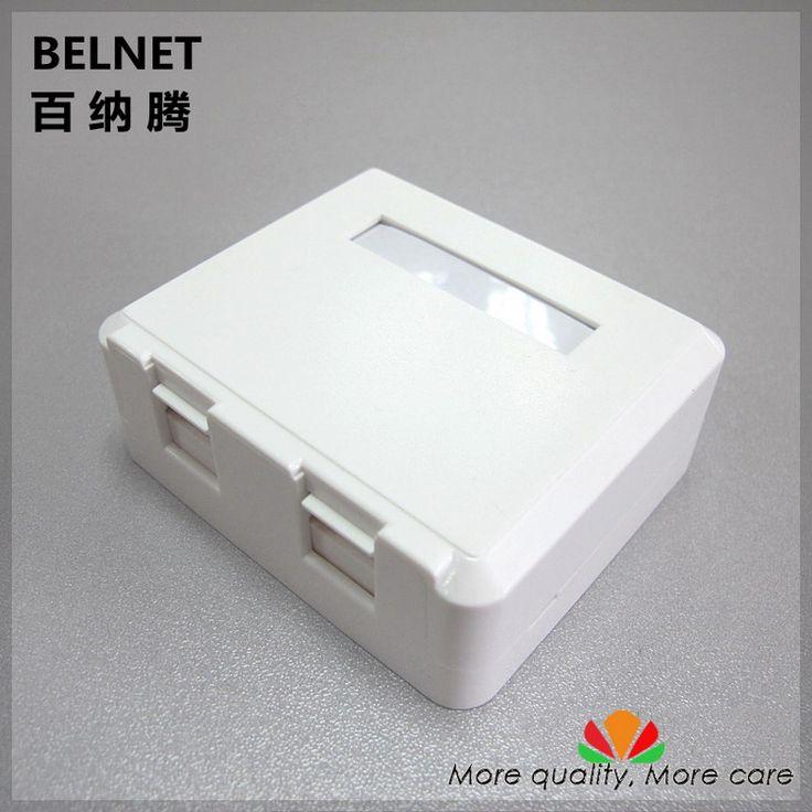 Simple desktop JB dual-port empty panel ethernet cable junction box Any combination blank panel for RJ45 RJ11 splitter AMP-mount