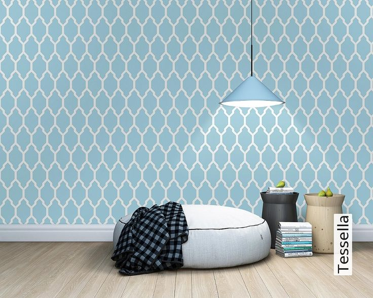 Wallpaper For Small Spaces Part - 49: Enchanted Wood, Ottoman Stool, The Whale, Quatrefoil, Bean Bag, Peony,  Repeat, Whales, Small Spaces