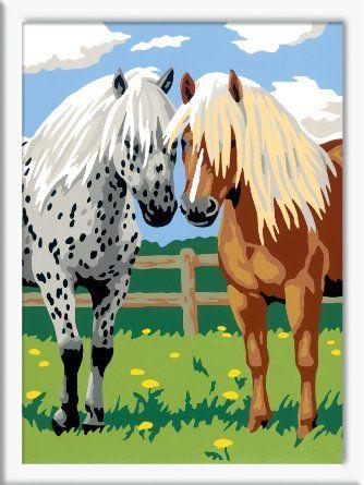 Ravensburger - Glückliche Pferde - Malen nach Zahlen, 24 x 18 cm