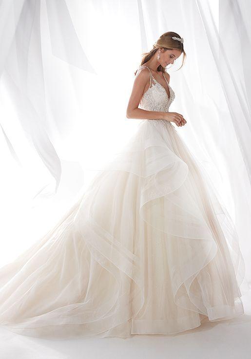 nicole milano 2019 collection niab19085 ball gown wedding dress