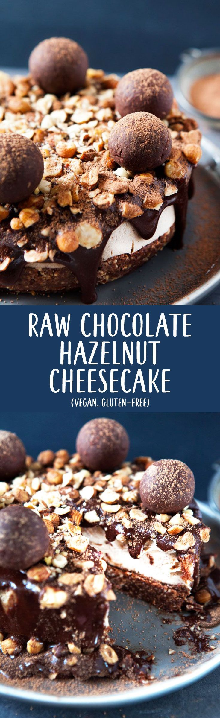 Raw #Chocolate #Hazelnut Tart / #Vegan, #GlutenFree / Goodness is Gorgeous