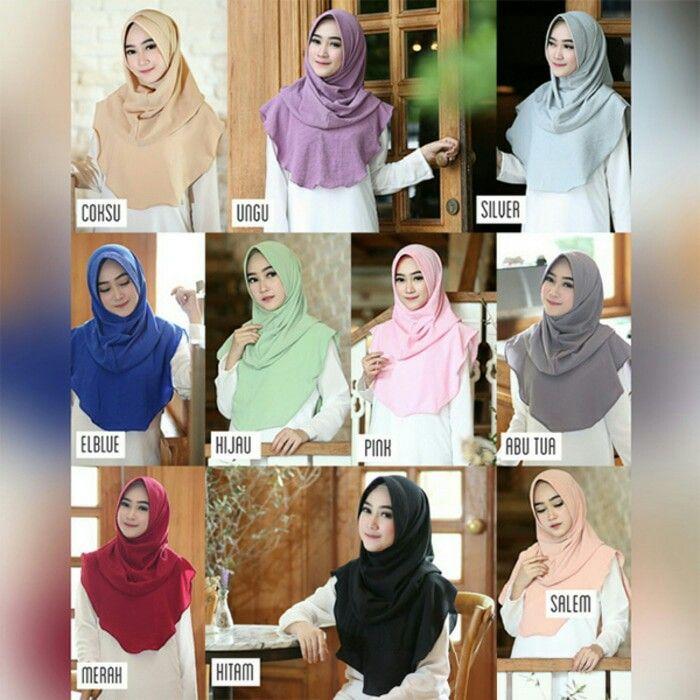 Jilbab instan / Hijab Instan Felica Pad / Felica Withpad, Jilbab instan model felica dengan pad, praktis langsung slup, tanpa peniti/jarum. Simple namun tetap cantik