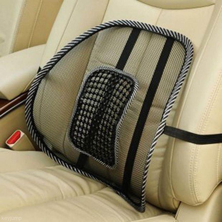 Livraison gratuite vente chaude confortable chaise de maille lombaire soulagement Back Pain Support voiture bureau de coussin chaise de siège noir coussin lombaire