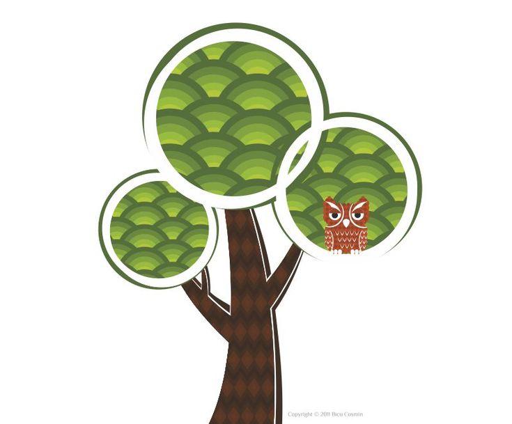 abstract tree illustration by Crabu.deviantart.com on @deviantART