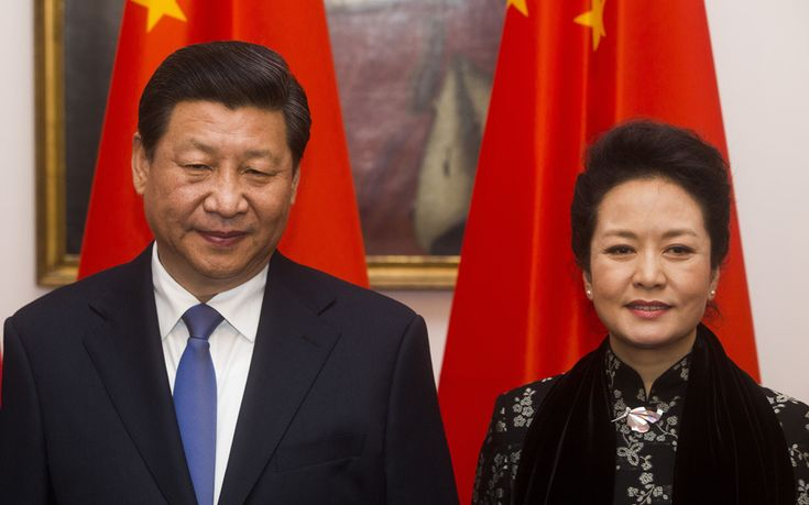 Chinese President Xi Jinping and wife Peng Liyuan in Germany.