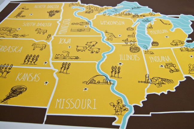 Gnombies Garden: American Atlas - Midwest Poster By Brainstorm