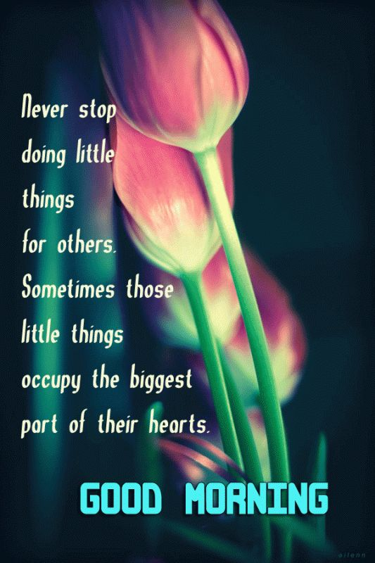 Good Morning Never stop doing little things for others... flower morning good morning good morning greeting good morning quote