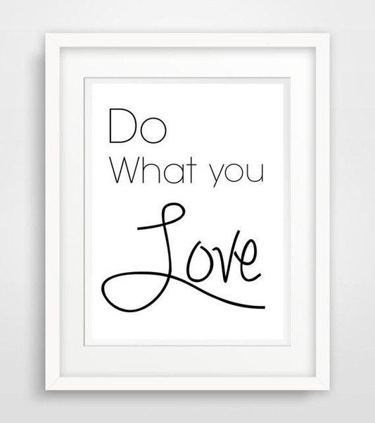 "Wanddeko - ""do what you love""- kunstdruck, spruch, poster - ein Designerstück von World-of-Words bei DaWanda"