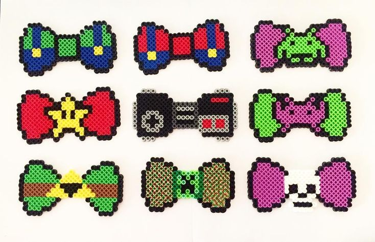 Bows perler beads by adobixartsandcreations