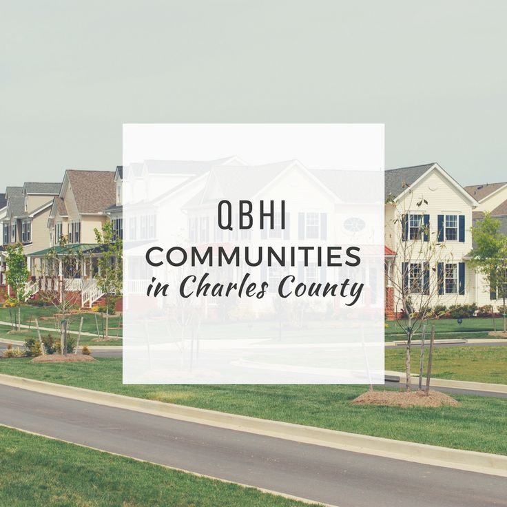 QBHI communities in Charles County