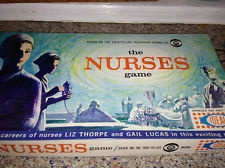The Nurses game, Vintage Board game based on Television series