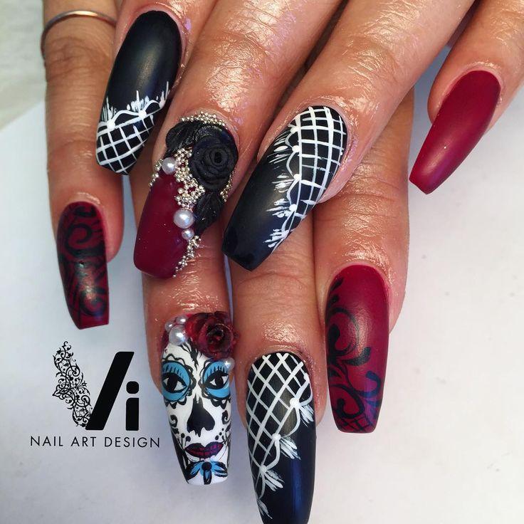 1414 best Arte uñas images on Pinterest | Halloween nails, Nail art ...