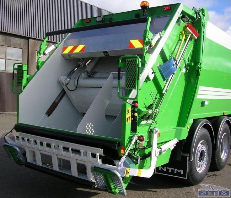 Odwłok śmieciarki dwukomorowej NTM KG-2K Podzielony na dwie części 70/30 do zbiórki śmieci lub dwóch odpadów segregowanych jednym pojazdem. Refuse truck, rear loader, garbage vehicles, Kommunalfahrzeuge, Benne a ordures, Recolectores, camion, Carico posteriore