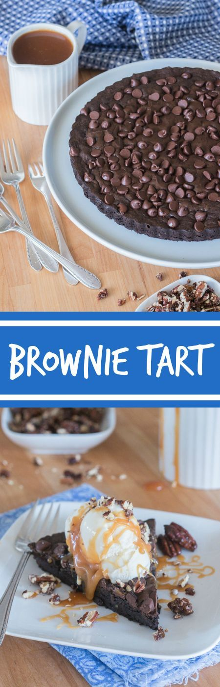 Give decadent chocolate brownies an elegant flair by swapping out a traditional square pan for a fluted tart pan. Top wedges of brownie tart with vanilla ice cream, homemade caramel sauce, and cinnamon pecans to create a sophisticated brownie sundae.