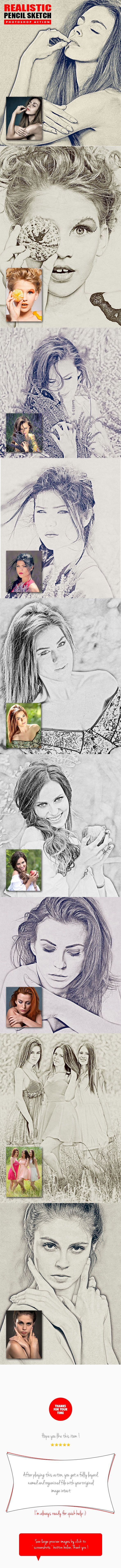 Realistic Pencil Sketch Photoshop Action. Download here: https://graphicriver.net/item/realistic-pencil-sketch-photoshop-action/17224591?ref=ksioks