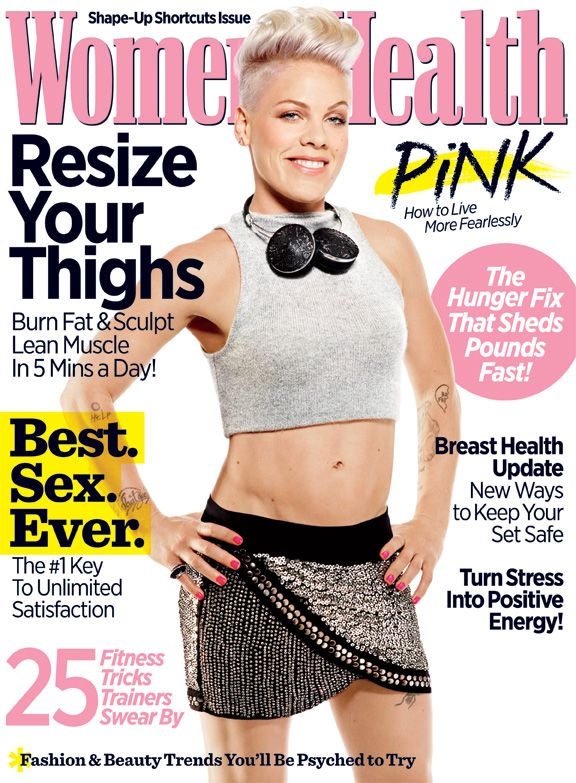Find out how Pink lives fearlessly in the October 2013 issue of Women's Health!