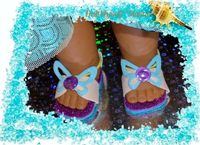 DIY American Girl Doll Shoes ~ Foam, stickers & ponytail holder* {DoItMyself Mama}