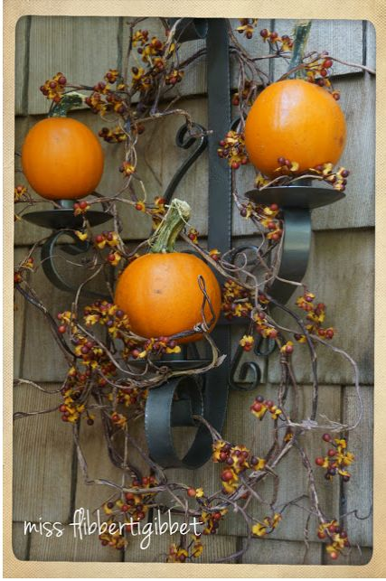 Replace all candlestick candles with pumpkins.  Instant fall decor!