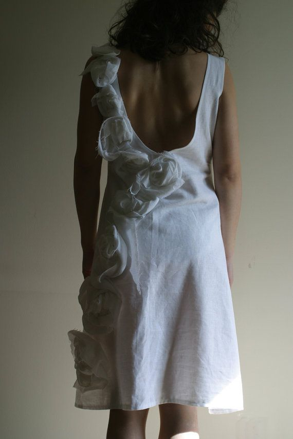 Linen Wedding Dress by NervousWardrobe on Etsy by NervousWardrobe, $150.00