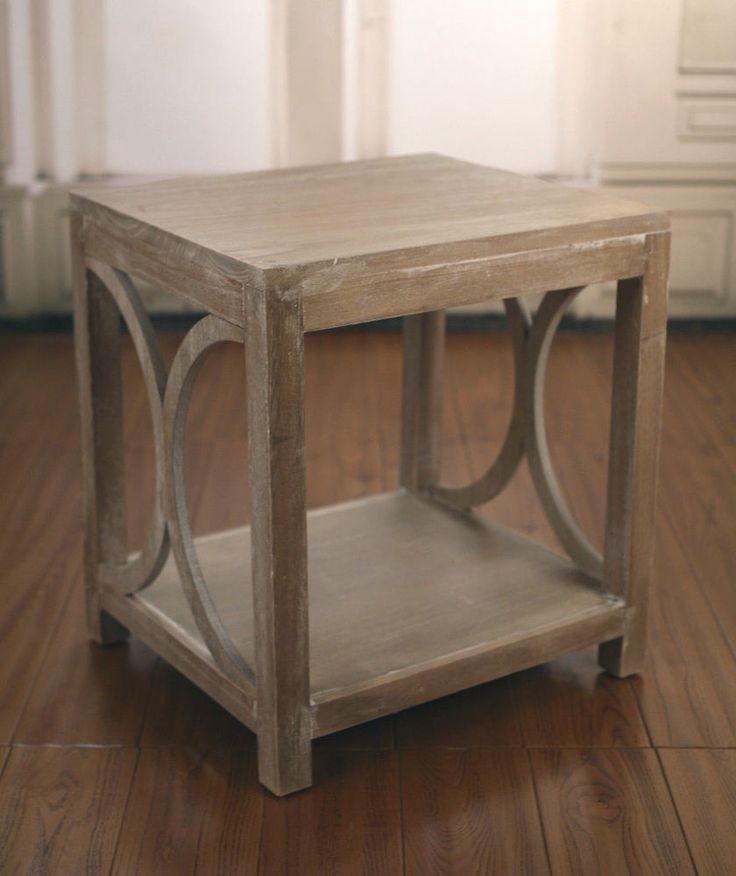 2 X French Provincial White Wash Lamp Tables Side Tables Bedside Tables