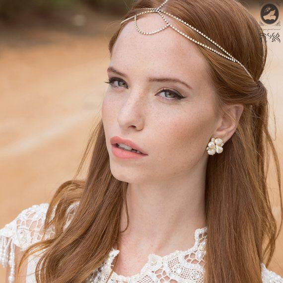 Bridal Hair Accessories Boho : Best 25 forehead headband ideas on pinterest bridal makeup