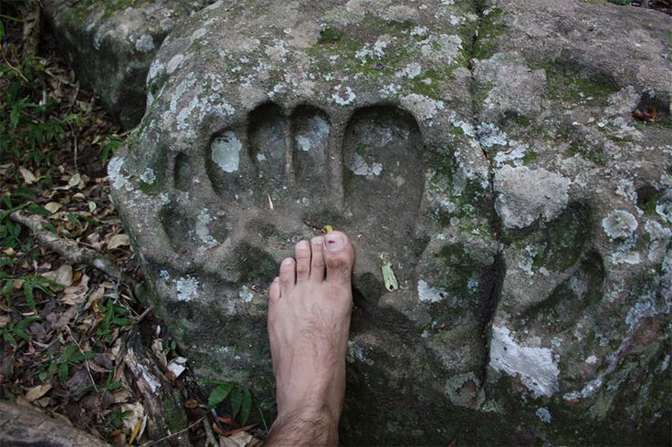 Lord Hanuman's Giant Footprints throughout Asia