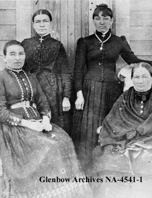 Daughters of Edward McKay, Fort Walsh, Saskatchewan. [ca. 1875-1899] Date: [ca. 1875-1899]