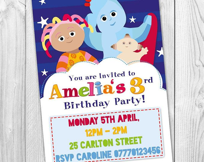 16 best In the Night garden Birthday Party Invitations images on – Personalised Party Invites