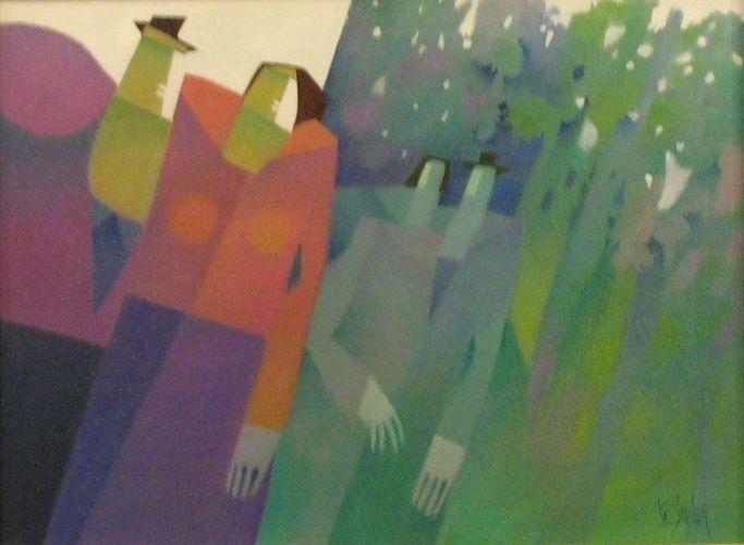 Claude Le Sauteur - Promeneurs en sous-bois (2002)