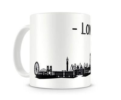 Tasse London Skyline. Eine Tasse bedruckt mit der Skyline von London