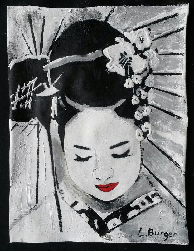 Geisha in Black/White