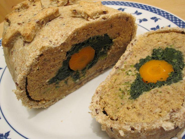 Polpettone di legumi ripieno in crosta | La mia cucina vegetale