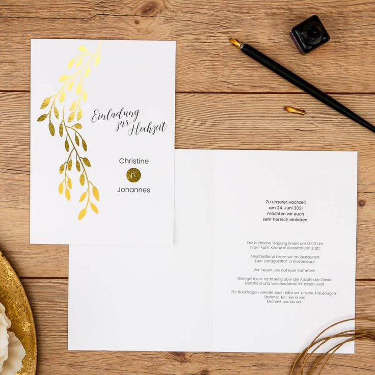 Linadara | Einladung #goldfolie #wedding #hochzeit #einladung  #heißfolienprägung #hotfoil #