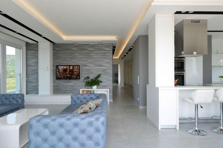 Különleges elrendezésű budapesti penthouse lakás