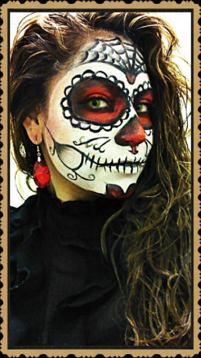 Dia De Los Muertos makeup. This is just a picture for inspiration.