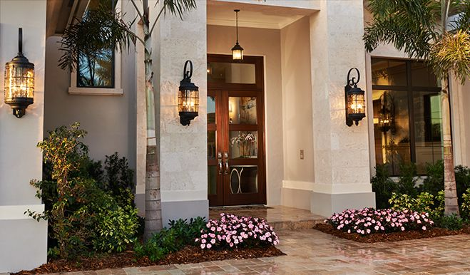 Guests can't help but be impressed by this grand entry in Boca Raton, FL | Kingsmill plan by Richmond American