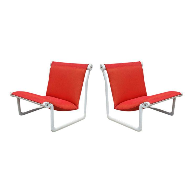 Vintage Knoll Morrison Hannah Outdoor Lounge Chairs - A Pair - Image 1 of 10