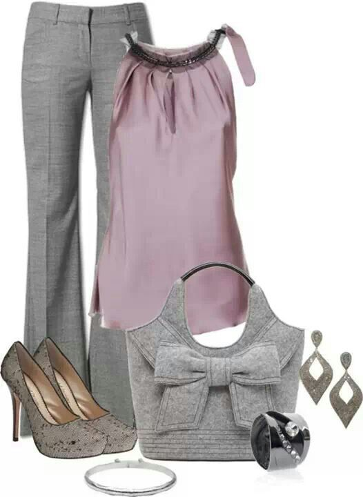 I like these colors together, too. The shoes are too trendy for me...