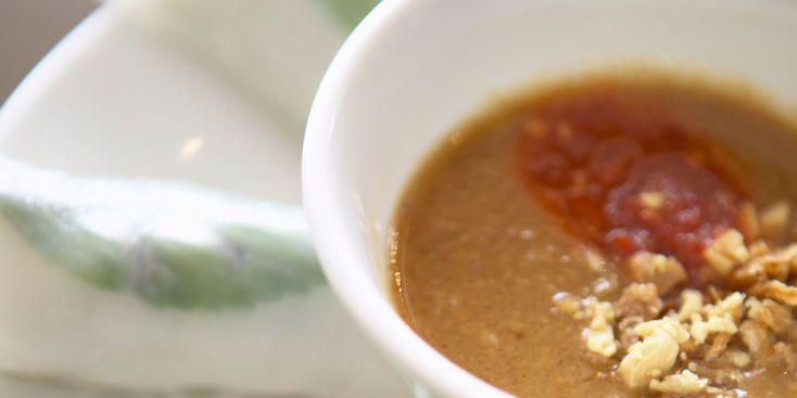Sauce cacahuète chaude